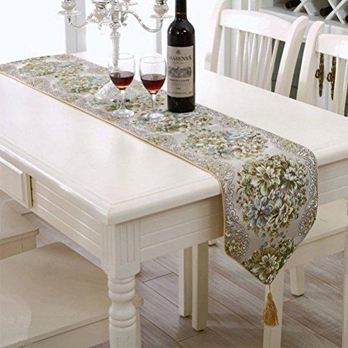 BLUETOP Tischläufer und Tischsets, 100 % Polyester, grün, 71
