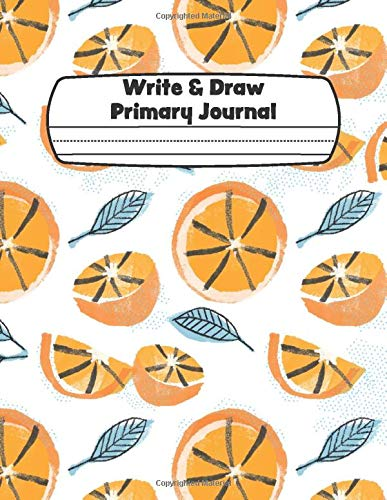 Write & Draw Primary Journal: Half Blank Space Half Lined...