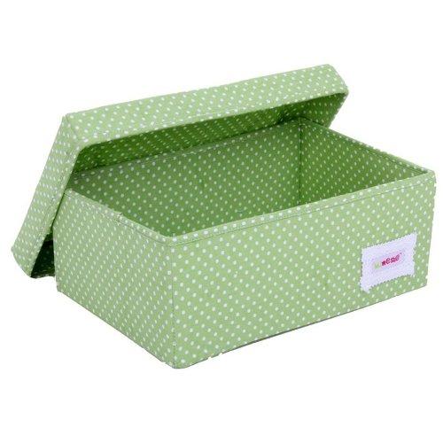 Minene Uk Boîte de rangement Pois Vert Petite taille