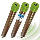 ISOTRONIC® Ahuyentador de topos, Efectivas vibraciones por ultrasonido contra ratón, rata, hormiga, topillo, serpiente - Repelente de alta frecuencia para exteriores - Paquete de 3 piezas
