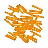 20 Mini-Knicklichter, Bissanzeiger, Angel-Knicklichter in orange inkl. Verbinder | verpackt zu je 2...
