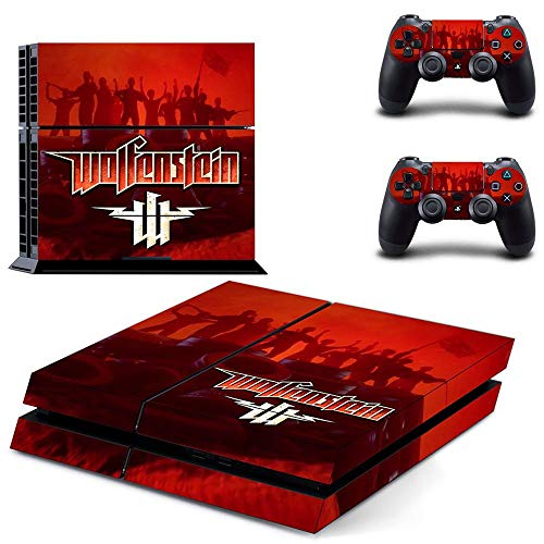 TSWEET Wolfenstein Youngblood Ps4 Stickers Playstation 4 Skin Sticker Decals For Playstation 4 Ps4 Console & Controller Skins Vinyl