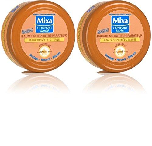 Mixa Confort Karité - Baume Nutritif Réparateur pour Peaux desséchées / Ternes - 200 ml - Lot de 2