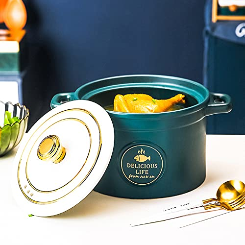 Casserole, Soup Pot, Crock Pot, Open Flame Ceramic Stew Pot, Health Pot, Household High Temperature Stew Pot,Dinnerware,3.5L