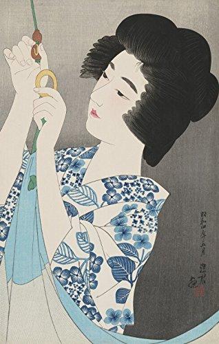 Japanese Art Print - Mosquito Net (Kaya) by Shinsui Ito