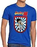 CottonCloud Tsubasa Camiseta para Hombre T-Shirt Holly e Benji súper campeones, Talla:M, Color:Azul