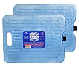 Cooler Shock 18-Degree F. Hard Packs - No Ice Required –Tough Innovative Pack Designed with a Ribbed Surface Area to Get Cold Fast. C.S. Has Over 4,000 Reviews Average 4.6 Stars (Clear 2 Pack)
