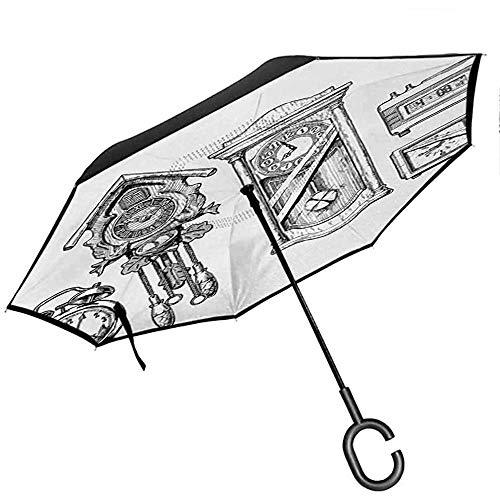 ETGeed Umgekehrter Regenschirm - Uhr | Prager Astronomische Uhr in der Altstadt, EIN europäisches mittelalterliches Wahrzeichen der Stadt