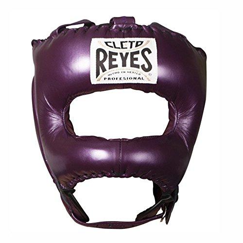 Cleto Reyes Traditionelle Kopfbedeckung mit spitzer Nylon-Gesichtsstange (lila)