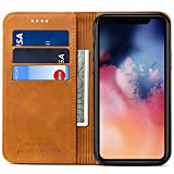 Wallet Case Flip Cover for 2019 iPhone 11, Kickstand Magnetic PU Leather Book Style ID Credit Card Holder Phone Case, 6.1 inches, Khaki