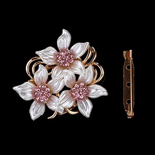 lijun Nueva aleación de Doble propósito Simple Bufanda Hebilla Broche Forma de Flor Pin Mujeres señoras