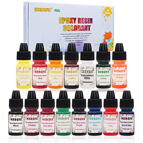 HXDZFX Epoxy Resin Colorant 15 Colo…