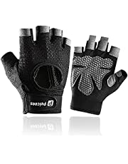 Peicees Workout Gloves for Women & Mens Womens Weight Lifting Gloves for Gym Exercise Training Cycling Black/Gray/Pink