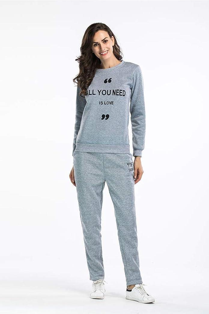 アラブサラボ偏心学校女性のクルーネックスウェットシャツと長ズボンカジュアルスウェットスーツ2ピーストラックスーツの衣装セット,A,M