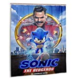 Feinilin Sonic The Hedgehog Shower Curtain for Bathroom Decoration 60x72 in