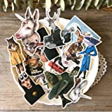 TTBH Vintage Personality Letter Stickers Creative Character DIY Scrapbooking Journal Album Happy Planner Crafts Decoration Stickers