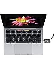 COMPULOCKS Maclocks MBPRLDGTB01CL Beveiliging Laptop Ledge Adapter met Combinatiekabelslot voor MacBook Pro met Touch Bar kit, 60 W, 120 V, zilver, zwart, 13 inch en 15 inch