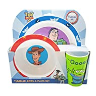 CHILD FRIENDLY: This resuable 3 piece PP tableware set will keep your little one fed and watered while enjoying time with their favourite characters! The set includes a plate, bowl and tumbler in a fun Toy Story design – a great conversation starter ...