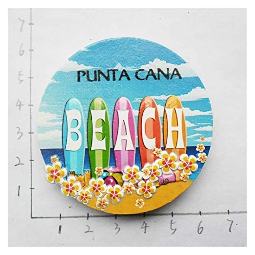 Yaoqshu Imanes Nevera República Dominicana Resina 3D Frigorífico Imán De Recuerdo Carnaval Autobús Punta Cana Macaw Sombrero Sombrero Playa Ancla del Océano Imanes Lindos (Color : 13)