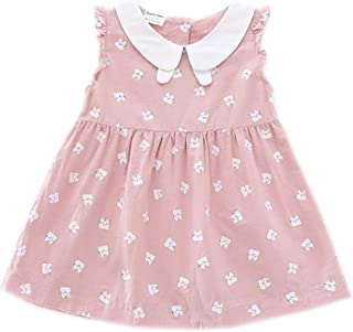 Toddler Baby Girls Cotton Tunic Dress Swing Casual Sundress Age 1-5
