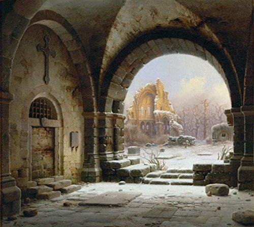 Kunstdruck/Poster: Wilhelm Steuerwaldt Ruinen des Klosters Heisterbach im Rheinland - hochwertiger Druck, Bild, Kunstposter, 45x40 cm