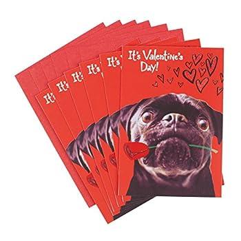 valentines day pug