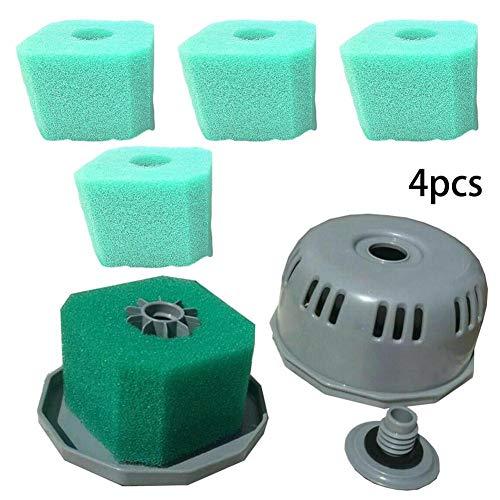 hinffinity Schwammfilter, waschbar und wiederverwendbar, für Whirlpool-Spa, Spa-Zubehör, 4 Stück grün
