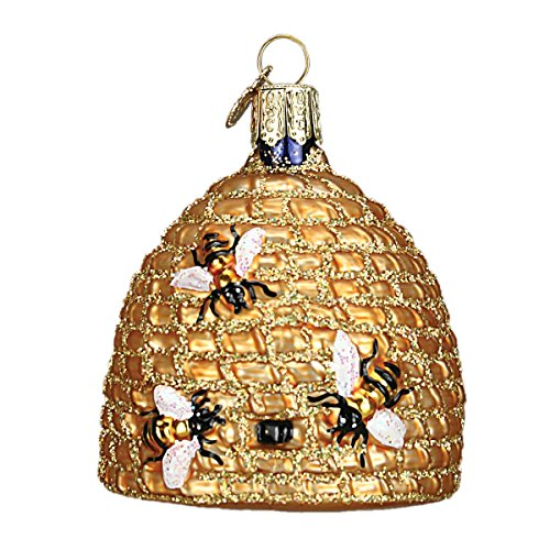 Old World Bee Skep Glass Ornaments for  Tree (12391)