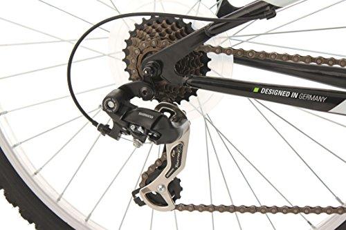 KS Cycling Fahrrad Mountainbike MTB Fully Zodiac, Schwarz/Gruen, 26 Zoll, 321M - 3