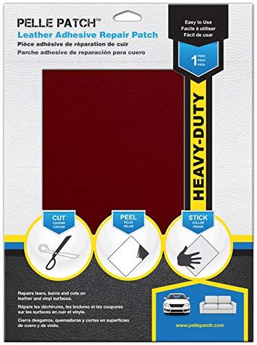 Pelle Patch - Parche Adhesivo de reparación para Cuero y Vinilo - Disponible en 25 Colores - Heavy-Duty 20cm x 28cm - Rojo