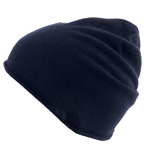 REALLY NICE CASHMERE Eco Kaschmir Mütze - Curl Solid Beanie Unisex - Winter Strickmütze 100{ea996d01900fbf5668099a68e51a3feb9dfb6d7bc6a7fe420e41df83bb828d22} Wolle schwarz