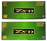 Zen Menthol King Size Cigarette Tubes – 2 Pack, 400 Tubes Total