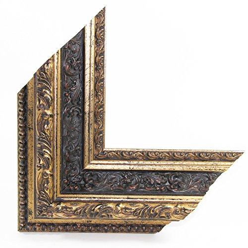 OLIMP-14 Bilderrahmen 95x33 cm Echtholz Barock in Farbe Antik Gold