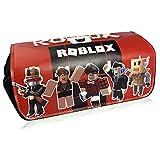 Roblox Estuche Escolar de Gran Capacidad, Bolsa de Lápiz Portable Estuche Organizador de...