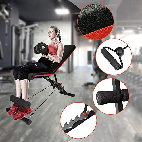 Product Image 4: Ativafit Adjustable Weight Bench for Full Body Workout Multi-Purpose Utility Weight Bench Foldable Flat Bench Press for Home Gym