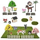 Demine Miniatur-Feen-Gartenhäuser, 29 Teile, Miniatur-Ornament-Set für DIY Feengarten, Puppenhaus, Dekoration, für drinnen und draußen, Gartendekoration, Zubehör, Geschenk für Mädchen und Jungen
