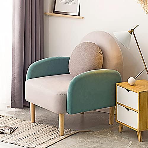 GGHHJ Sofá Nórdico Individual, Sillón De Salón para Dormitorio, Sillón Minimalista Moderno, Balcón, Sala De Estar, Silla Decorativa (Color : E)