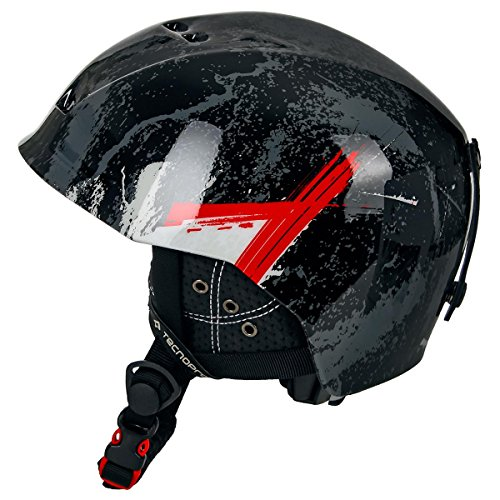 Skihelm Xt Is8 Team - zwart/rood, maat INT:M