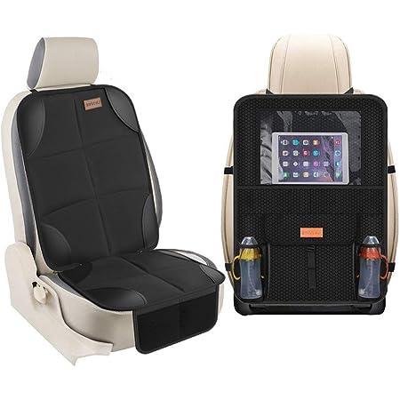 Smart Elf Kindersitzunterlage Für Kindersitze Rücksitz Organizer Sitzbezugset Vorne Hinten Schützen Sie Ihren Autositz Wirklich In Alle Richtungen Decken Sie Ihren Autositz Vollständig Ab Koffer Rucksäcke Taschen
