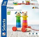 Selecta 62018 Filino, Nachziehspielzeug und Stapelspielzeug aus Holz, 15 cm