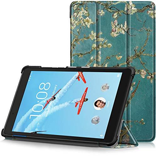 TTVie Hoes voor Lenovo Tab E8, Ultraslanke Lichtgewicht Slimme Standaard Beschermhoes voor Lenovo Tab E8 8 Inch Tablet 2018 Release, Abrikoos Bloesem
