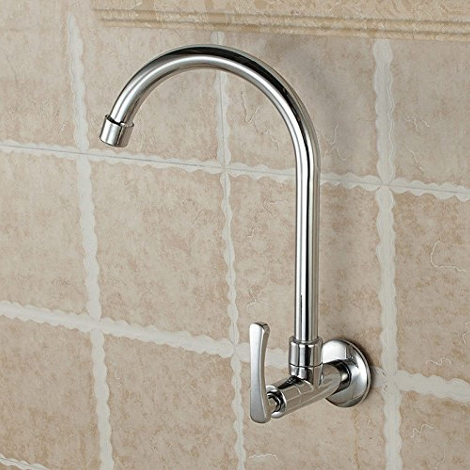 Lalaky Taps Faucet Kitchen Mixer Sink Waterfall Bathroom Mixer Basin Mixer Tap for Kitchen Bathroom and Washroom Single Cold Wall-Mounted redatable Copper Body