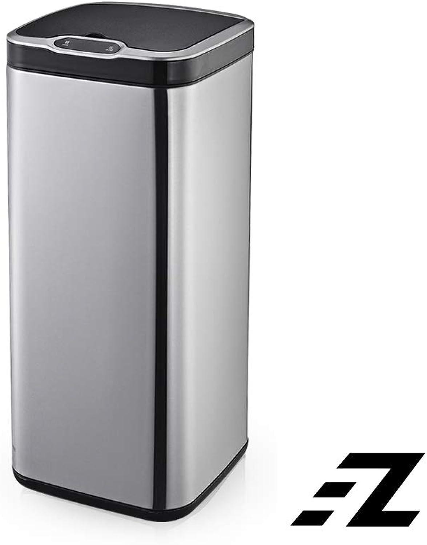 EZ FunShell Sensor 30 Liters Home Trash Waste Bin Silver