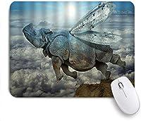 マウスパッド Mouse Pad Fantasy Pond Lilies Floating Romantic Lotus Mousepad Non-Slip Rubber Base for Computers Laptop