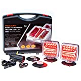 VULCAN Wireless LED Towing and Trailer Light Kit for Trucks, Trailers, RVs, SUVs and Boats