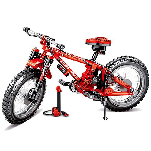 Building Blocks 306pcs Sembo 703302 Technique Mountain Bike 2in1 Bicycle Moc Building Blocks Bricks Educational Technic Series Action Toy