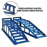 2x Auffahrrampe Rampe PKW bis 245er Räder extra breit blau 2000 kg pro Paar - 3