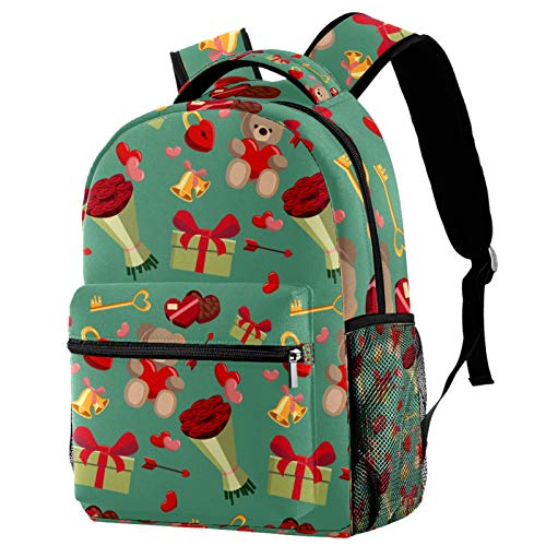 12' Travel Backpack, Durable College School Backpack Women Girl Casual Daypack(11.5x8x16 in),Cartoon Romantic