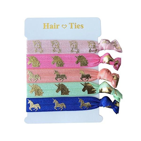 Unicorn Gifts for Girls - Unicorn Drawstring Backpack/Makeup Bag/Bracelet/Inspirational Necklace/Hair Ties 7