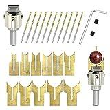 WingFly Set di Falegnameria Buddha Perline Router Ball Blade Drill Bit Fresa, Wooden Bead Maker Beads Drill Bit per Braccialetti con Perline Fai da Te (27 Pezzi)